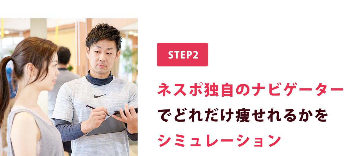 step2.ネスポ独自のナビゲーターでどれだけ痩せれるかをシミュレーション